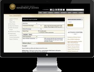 Rebates - U.S. Department Of Justice Rebate Calculator